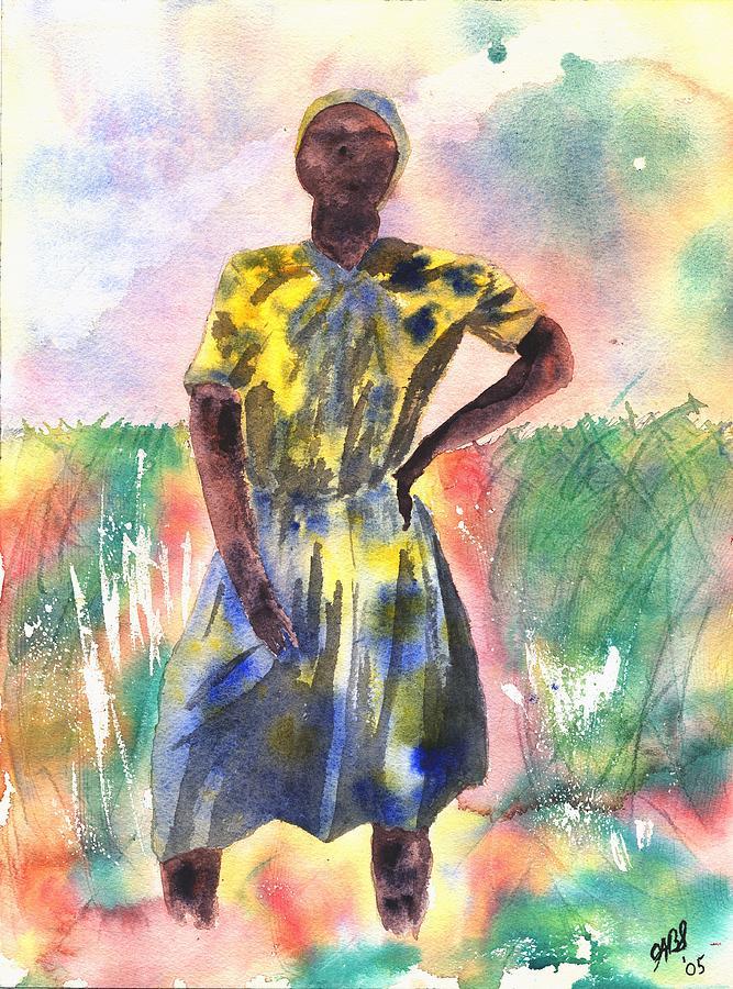 Watercolor Painting - Proud Lady by Joyce Ann Burton-Sousa