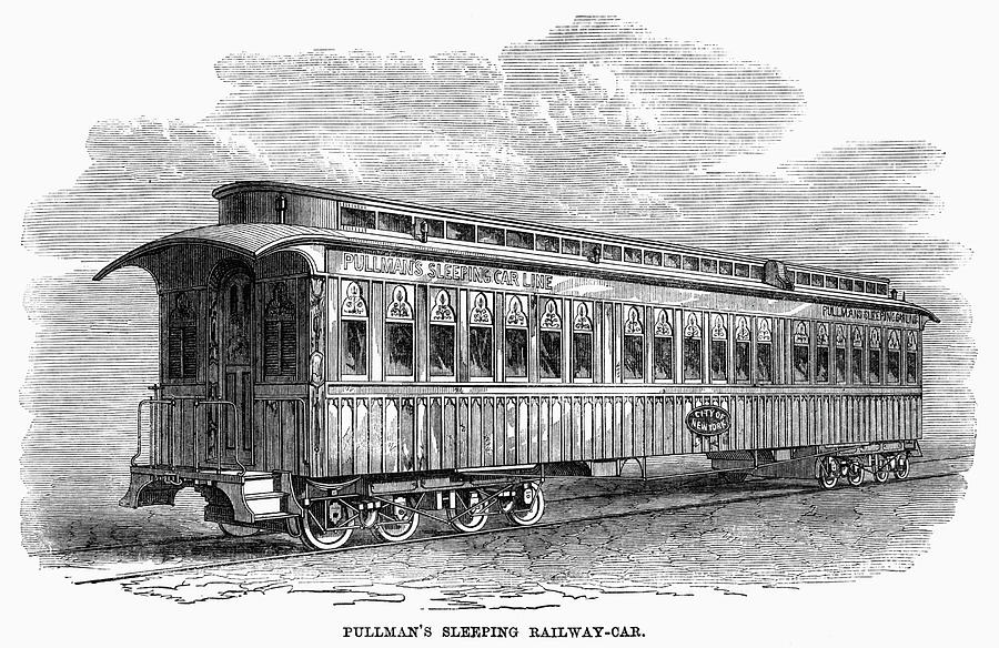 1869 Painting - Pullman Car, 1869 by Granger