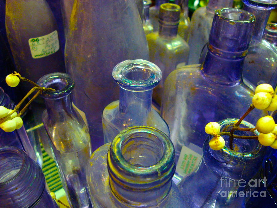 Antique Photograph - Purple Glaze by Cathy Dee Janes