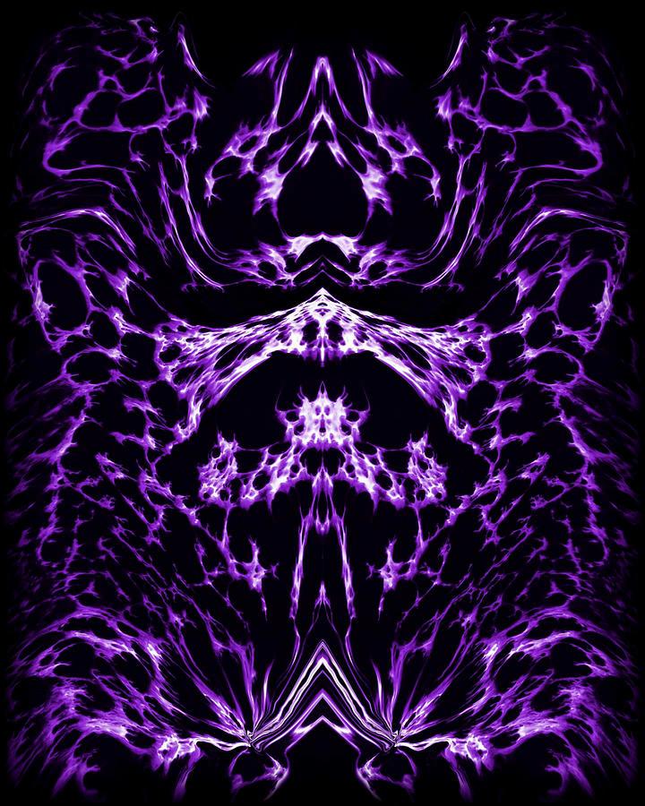 Original Painting - Purple Series 1 by J D Owen