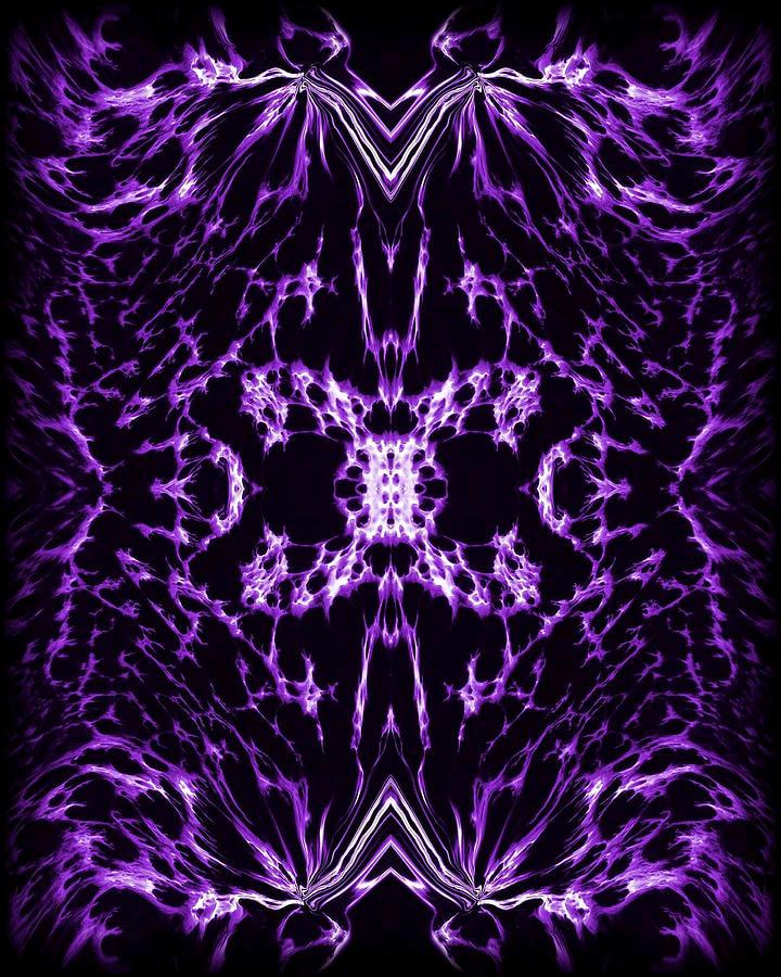 Original Painting - Purple Series 2 by J D Owen