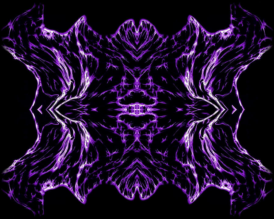 Original Painting - Purple Series 7 by J D Owen