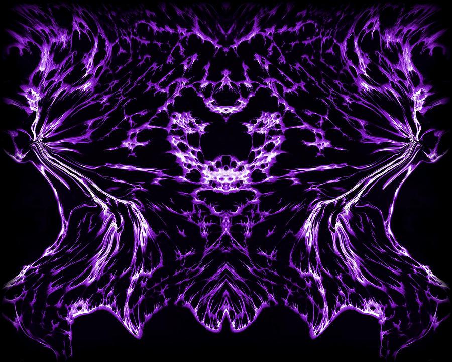 Original Painting - Purple Series 8 by J D Owen