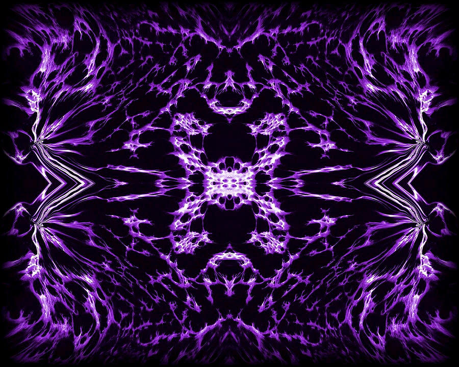 Original Painting - Purple Series 9 by J D Owen