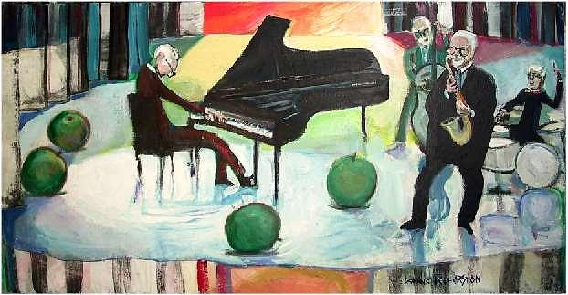 Jazz Painting - Quartet Dave Brubeck by Dominic Fetherston