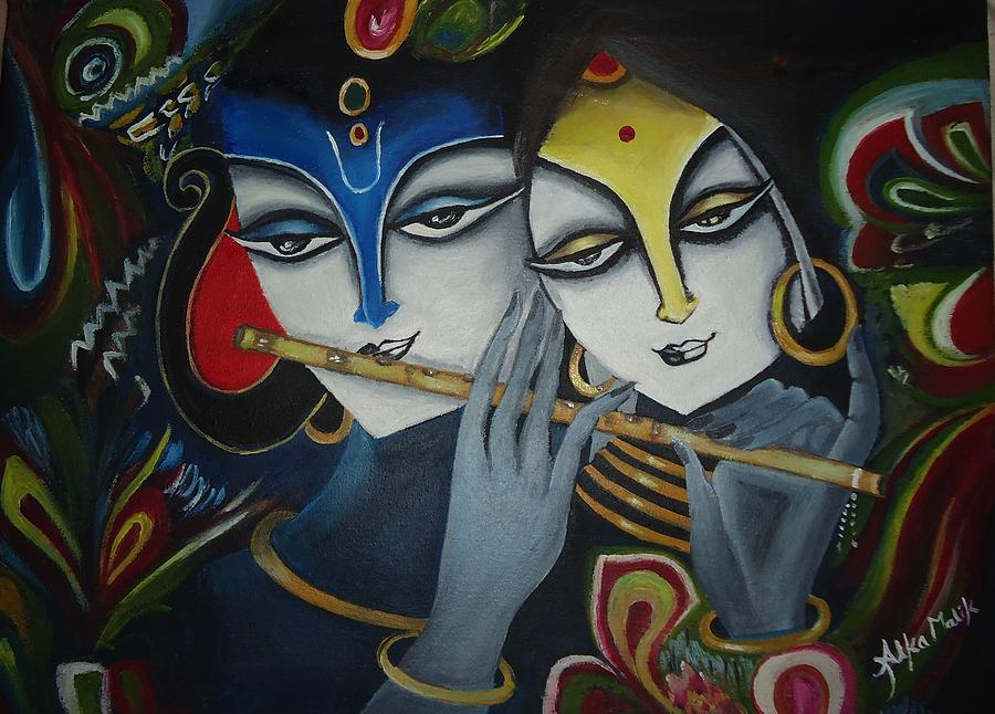 Radha Krishna Paintings Painting