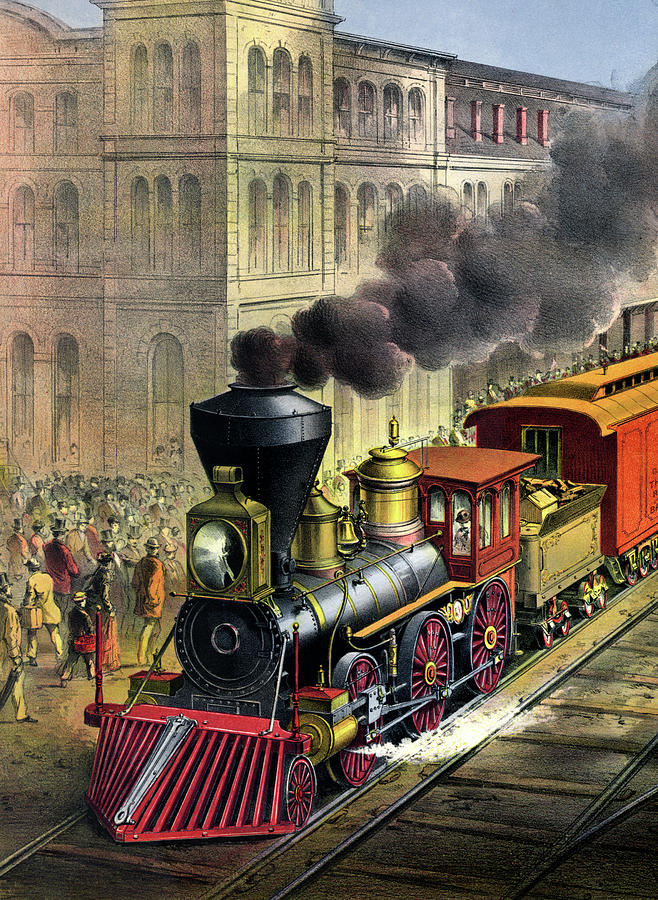 1874 Painting - Railroad, 1874 by Granger