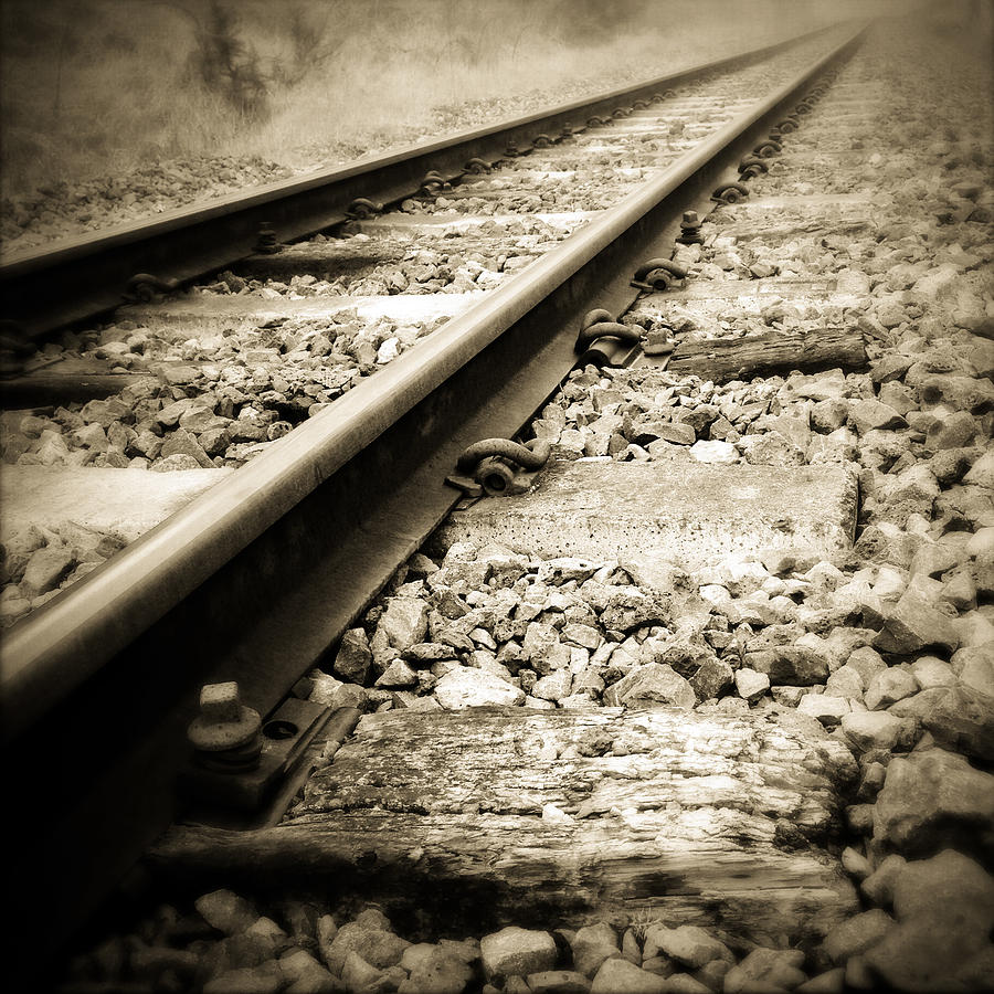 Industry Photograph - Railway Tracks by Les Cunliffe