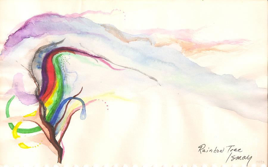 Rainbow Painting - Rainbow Tree by Rod Ismay