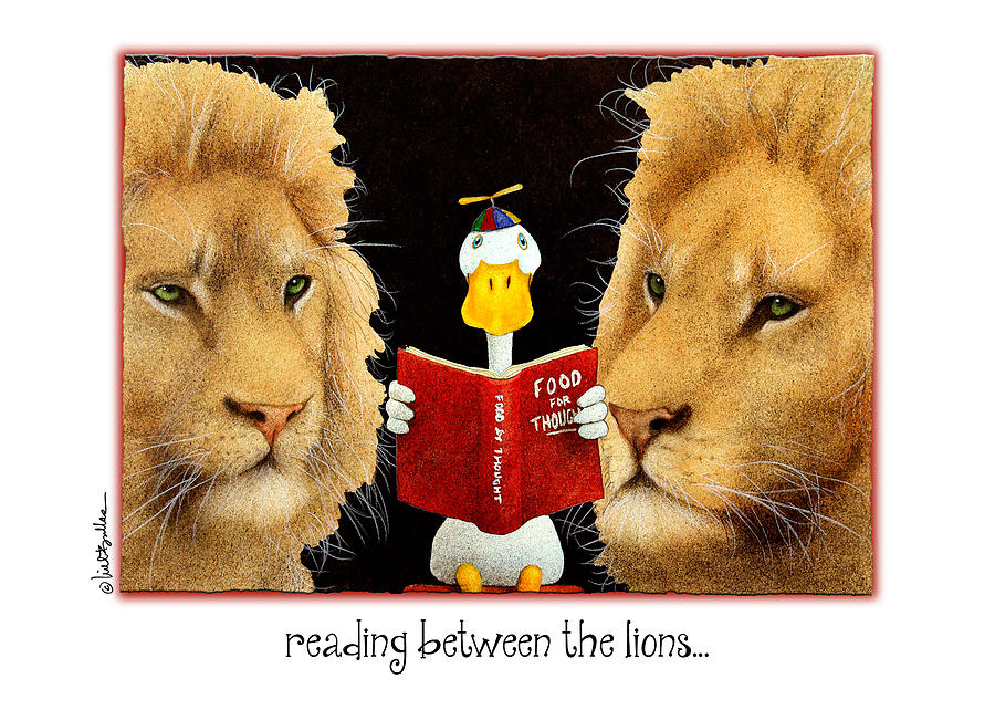 Will Bullas Painting - Reading Between The Lions... by Will Bullas