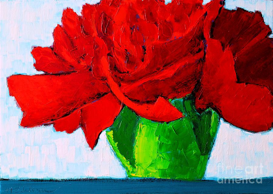 Carnation Painting - Red Carnation by Ana Maria Edulescu