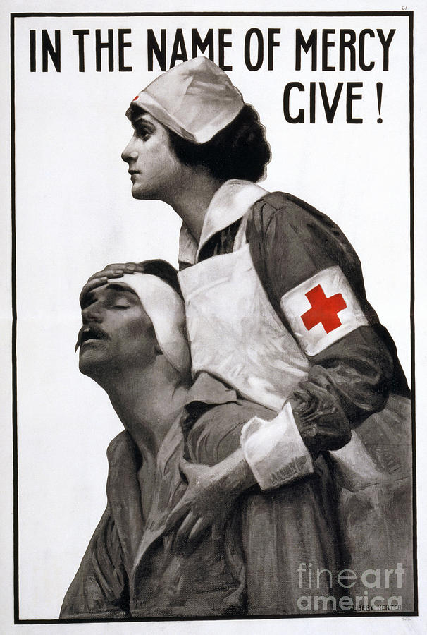 1917 Photograph - Red Cross Poster, 1917 by Granger