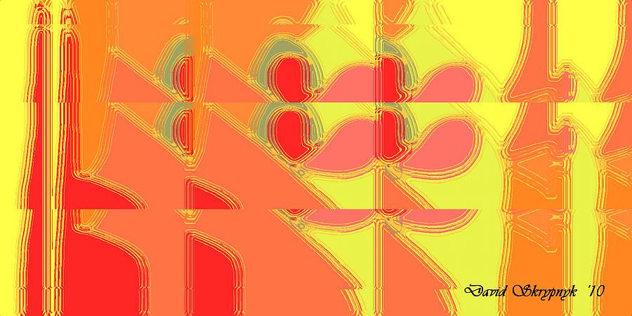 Picture Digital Art - Red Effect by David Skrypnyk
