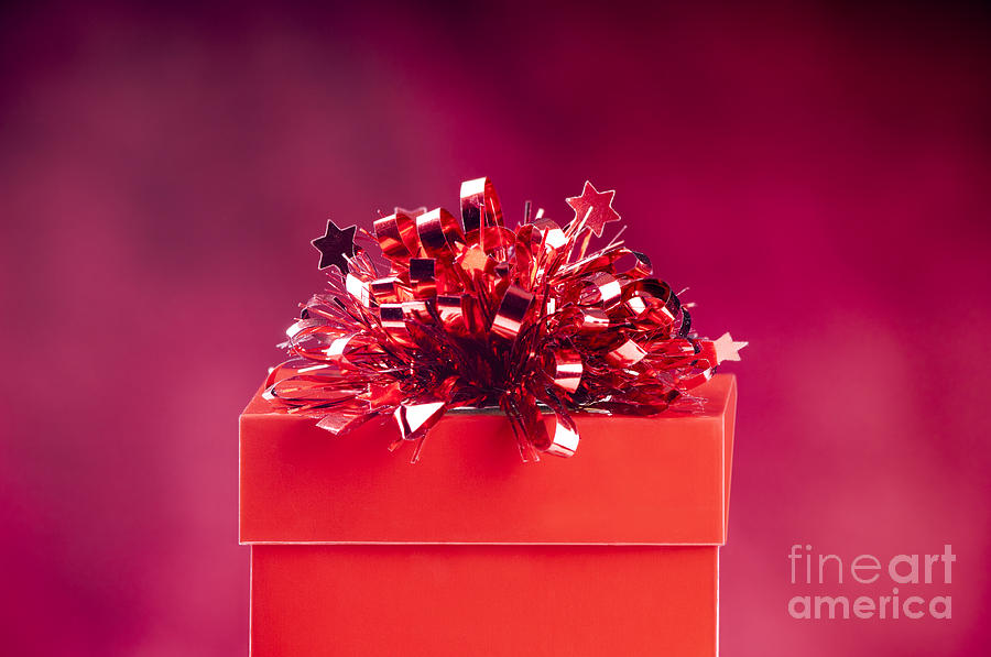 Red Gift Box Photograph By Tim Hester