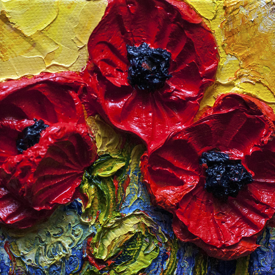Paintings Of Poppies Painting - Red Poppies by Paris Wyatt Llanso