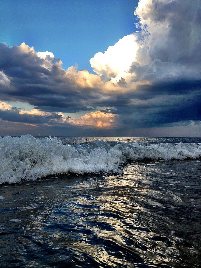 Beach Photograph - Reflecting by Eugene Bergeron