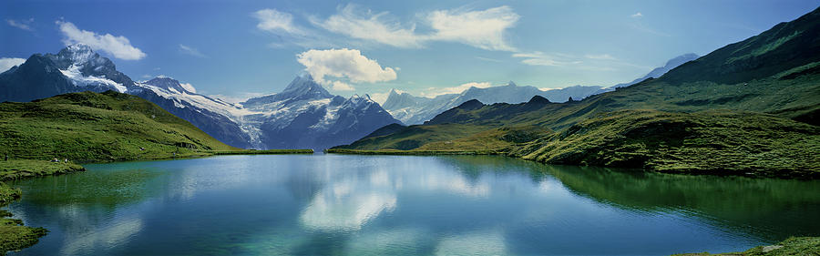 Horizontal Photograph - Reflection Of Clouds And Mountain by Panoramic Images