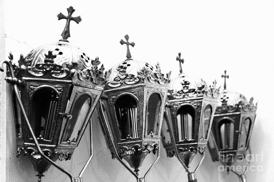 Lanterns Photograph - Religious Artifacts by Gaspar Avila