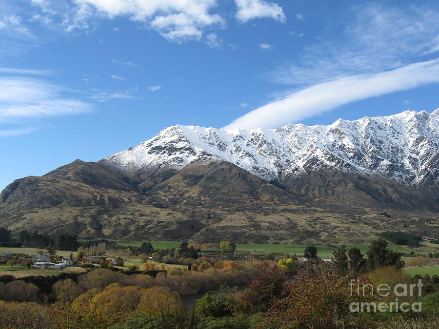 Queenstown Photograph - Remarkables Mountains by Lines