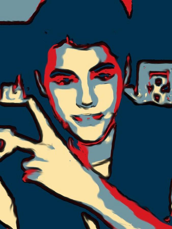 Justin Bieber Digital Art - Retrato A Justin Bieber by Don Mario Ramirez Centeno