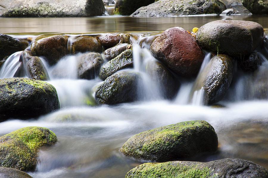 Close Photograph - River Rocks by Jenna Szerlag