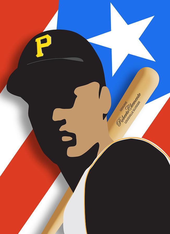Roberto Clemente Digital Art - Roberto Clemente by Ron Regalado