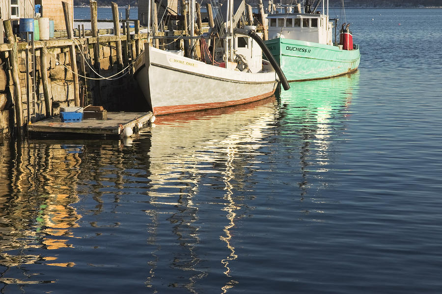 Rockland maine fishing boats and harbor photograph by for Fishing boat dealers near me