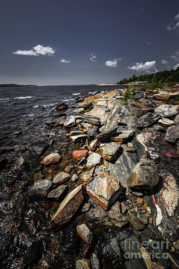 Georgian Bay Photograph - Rocky Shore Of Georgian Bay by Elena Elisseeva