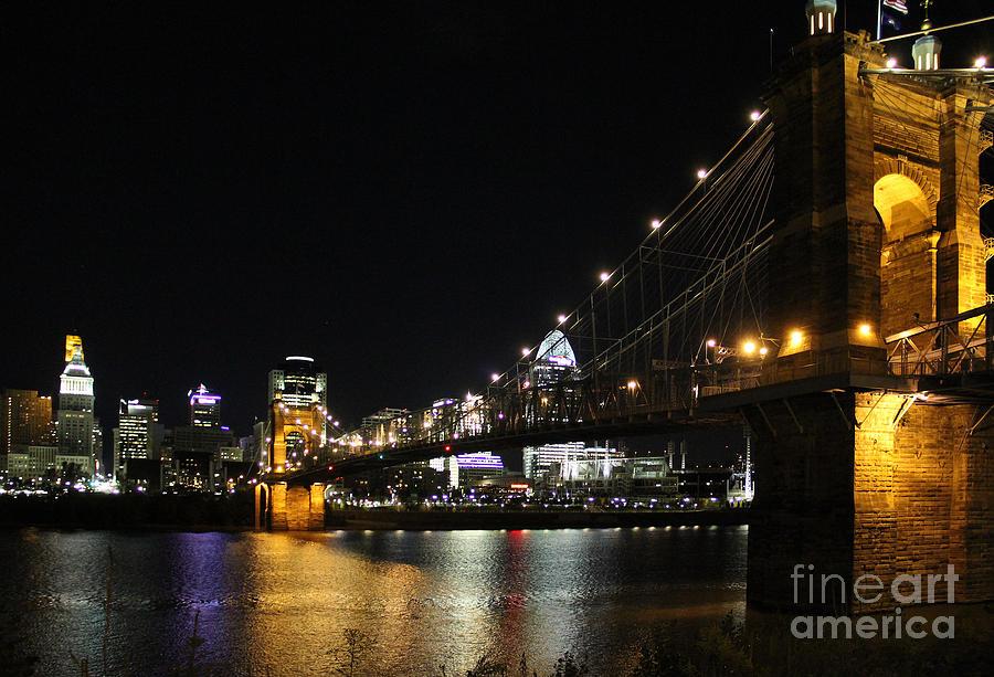 Roebling Suspension Bridge Photograph - Roebling Suspension Bridge 9939 by Jack Schultz