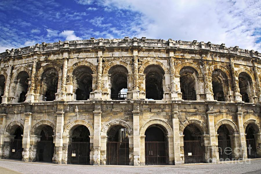 Roman Arena In Nimes France Photograph By Elena Elisseeva