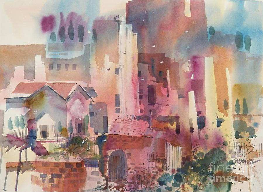 Watercolor Painting - Roman Forum by Micheal Jones