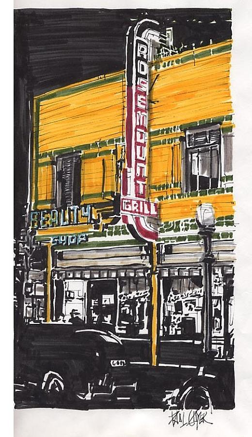 Sacramento Painting - Rosemount Grill by Paul Guyer