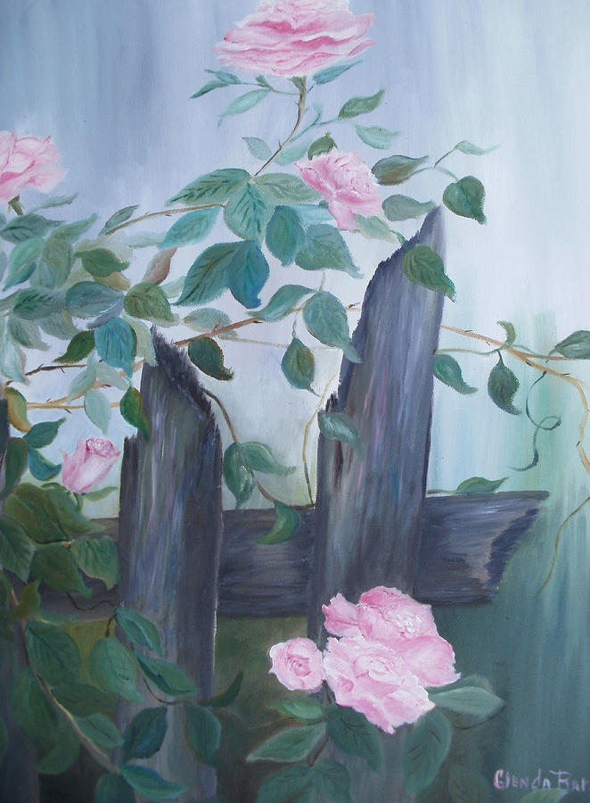 Original Painting - Roses by Glenda Barrett