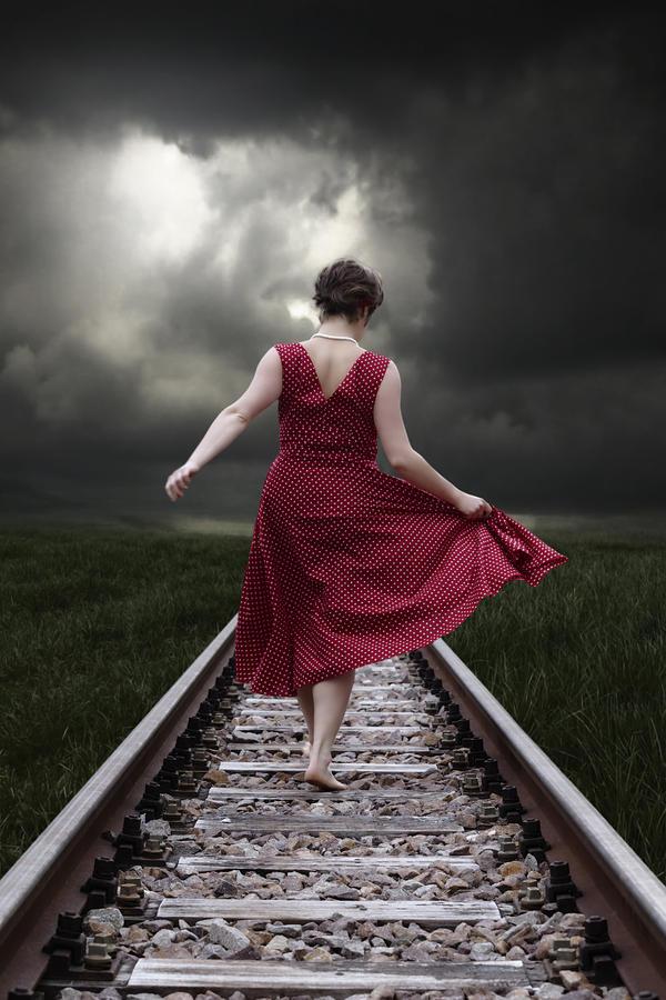 Woman Photograph - Running by Joana Kruse