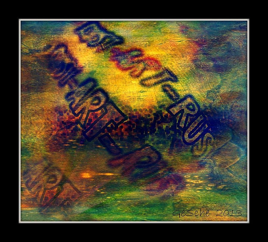 Abstrakt Mixed Media - Rust-art 04 by Gertrude Scheffler