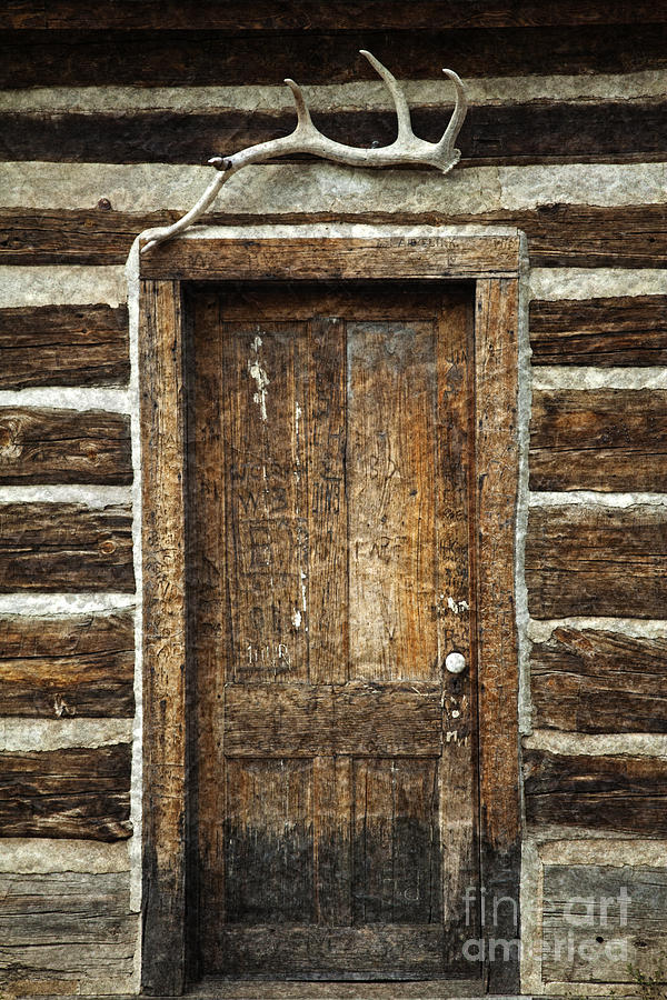 Door Photograph - Rustic Cabin Door by John Stephens