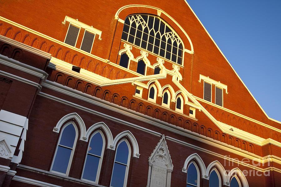 Ryman Auditorium Photograph - Ryman Auditorium by Brian Jannsen