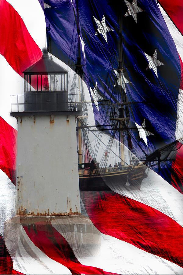 Salems Friendship Sails Past Fort Pickering Lighthouse Photograph