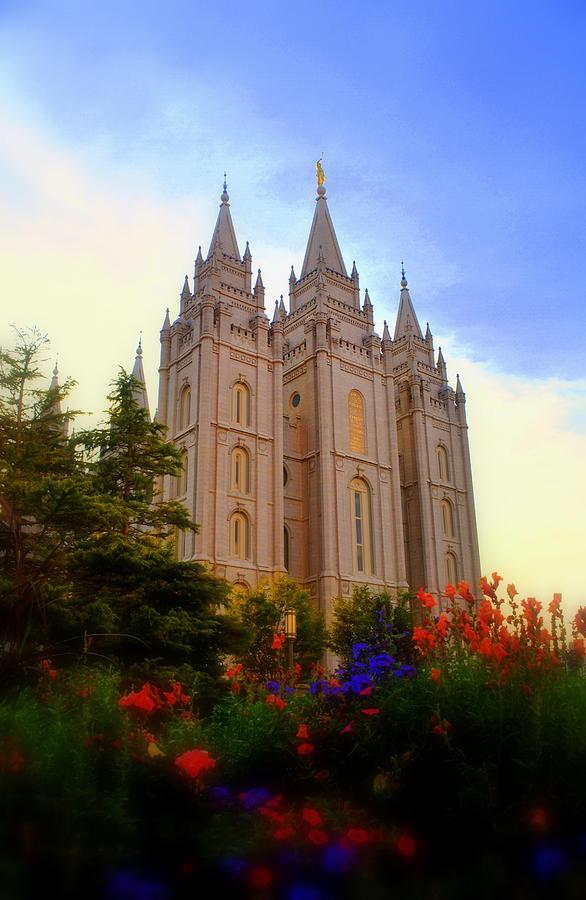 Salt Lake City Lds Temple Photograph By Nathan Abbott
