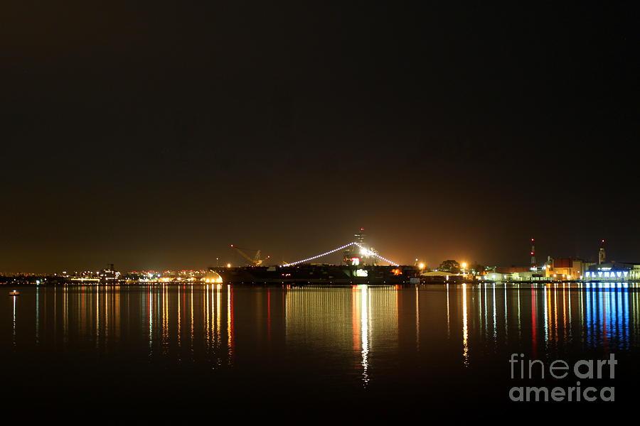 San Diego Skyline Night Photograph