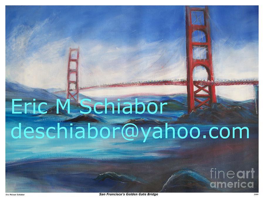 Ocean Painting - San Francisco Golden Gate Bridge  by Eric  Schiabor