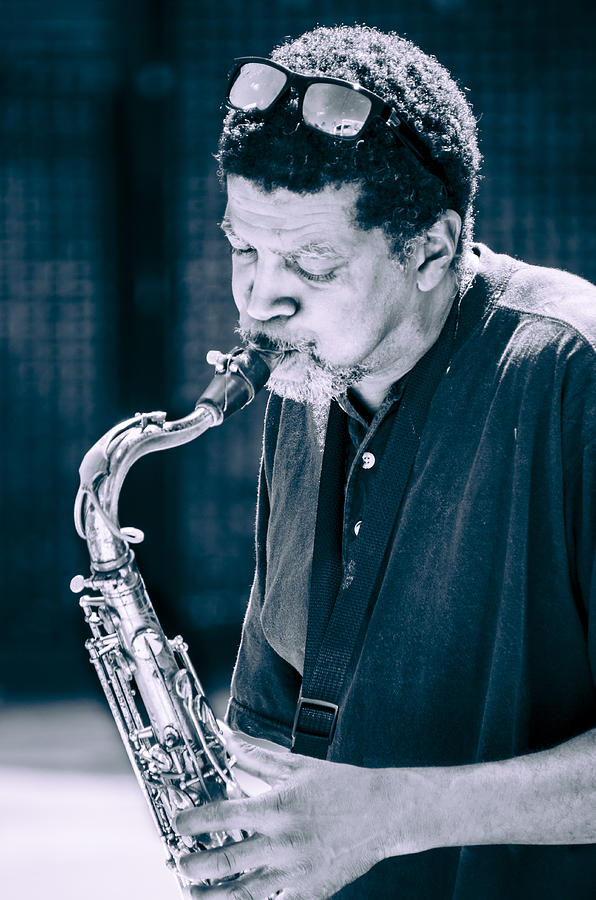 Saxophone Photograph - Saxophone Player 2 by Carolyn Marshall