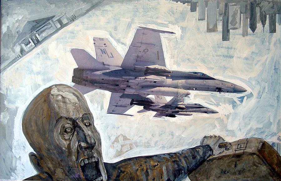 Nine Eleven Painting - Scream by Filip Mihail