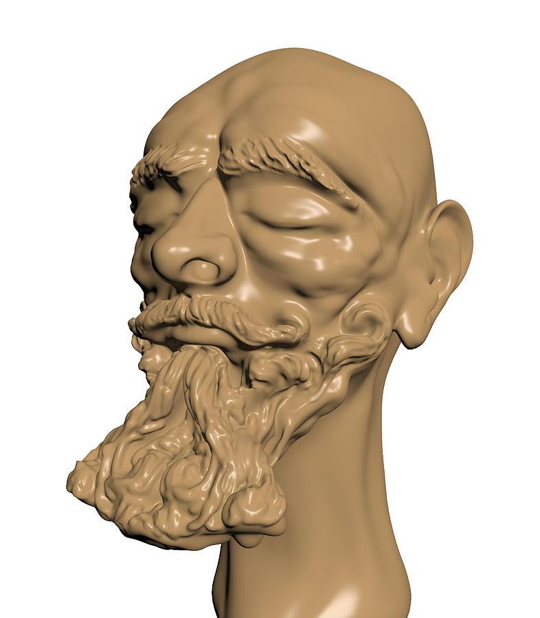 3d.face Sculpture - Sculpture by Moshfegh Rakhsha