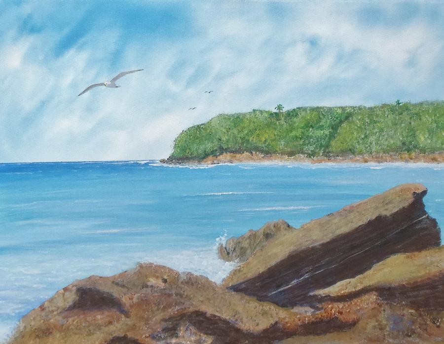 Seagull Seascape Painting