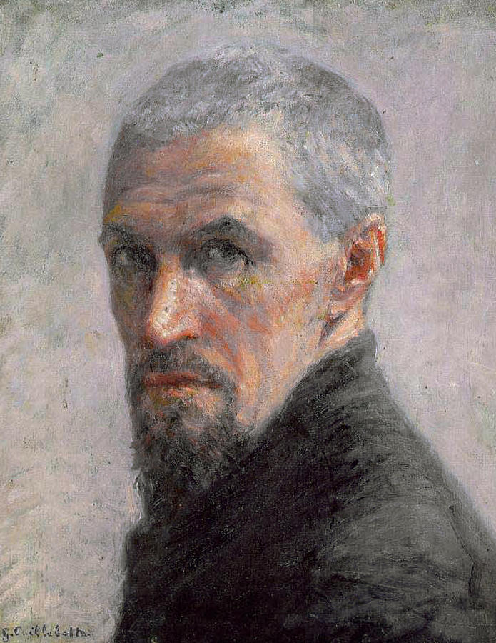 Male Painting - Self Portrait by Gustave Caillebotte