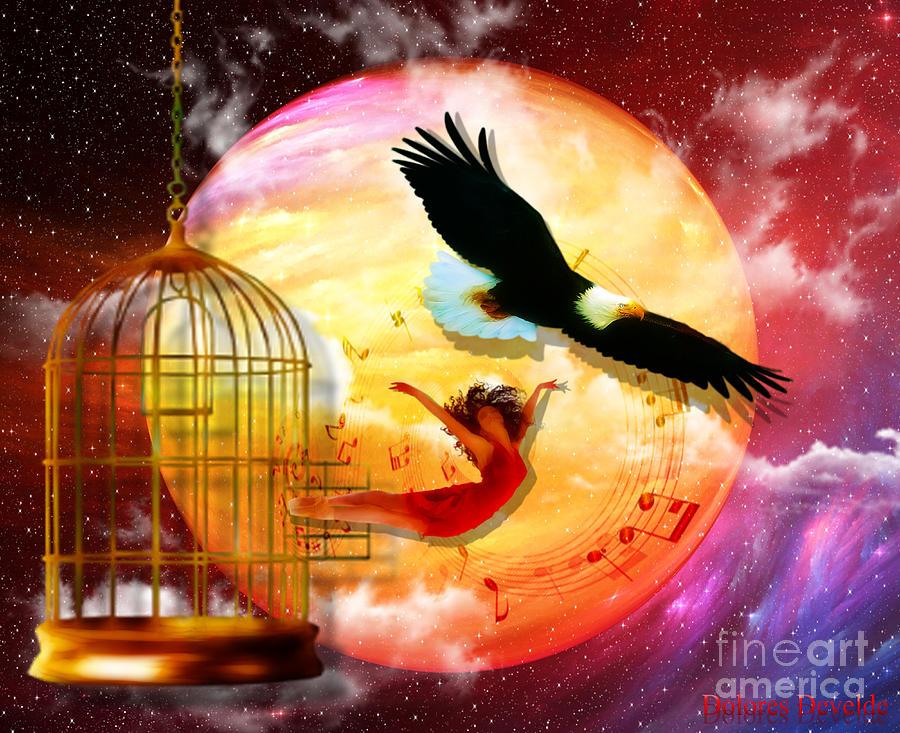 Eagle Cadge Freedom Isaiah 40:31 Digital Art - Set Free by Dolores Develde
