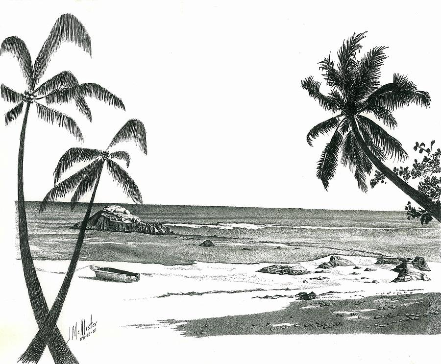 Landscapes drawing seychelles beach by jimmy mcalister