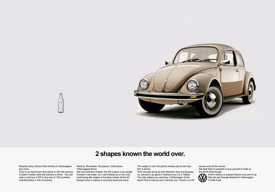 Volkswagen Photograph - 2 Shapes Known The World Over by Mark Rogan