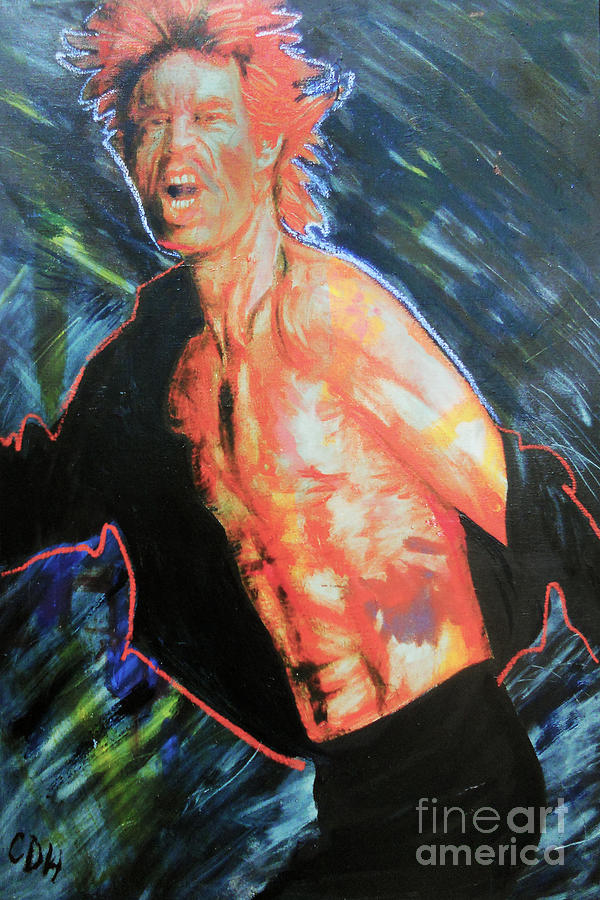 Mick Painting - Shattered by Carole Heslin